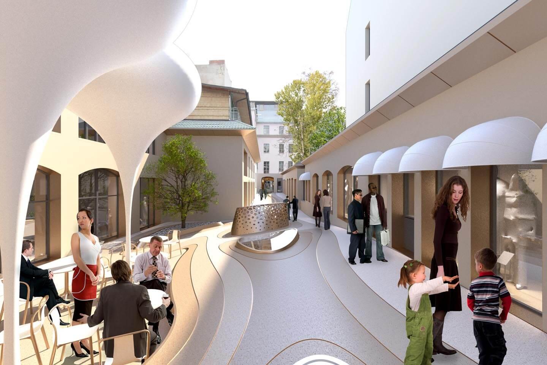 Architektur für repräsentativen Einzelhandel und Gewerbe